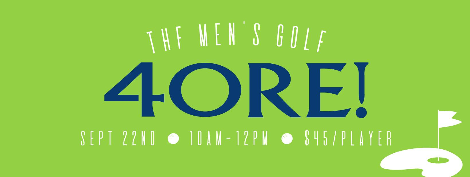 4ORE! THF Men's Ministry Event
