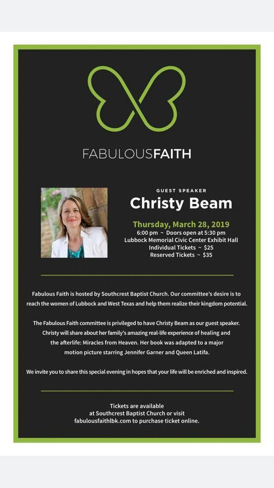 Fabulous Faith 2019 Information